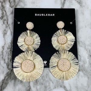 Baublebar Mariette Fringe Drop Earrings Ivory